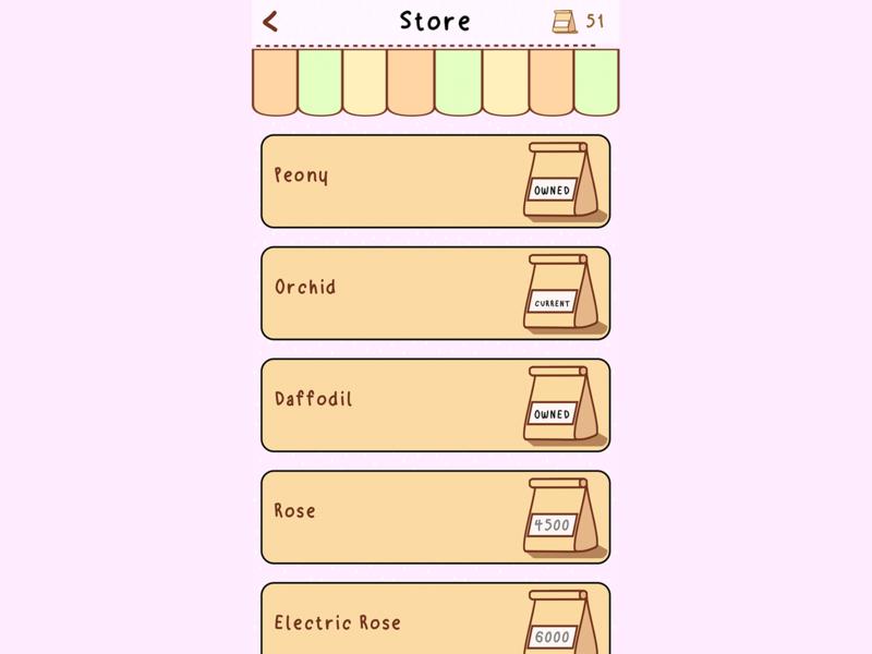 Seedlings App Character Select