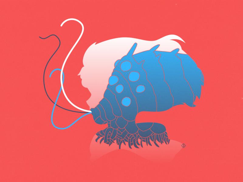 Nausicaa + Ohmu art vector art illustration ohmu ghibliredraw ghibli nausicaa