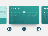 Taxi connection assistant - tablet view