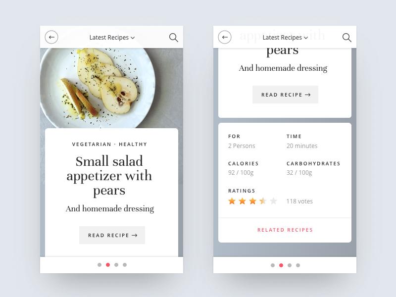 Food recipes app design by jonas arleth dribbble forumfinder Gallery