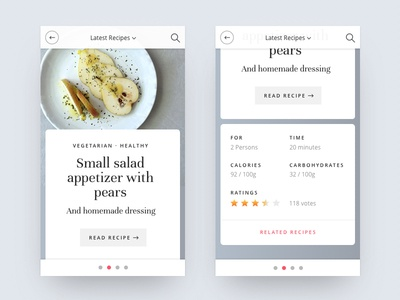 Food recipes app design by jonas arleth dribbble food recipes app design forumfinder Gallery
