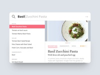 Food Recipe Search Interface