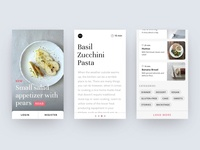 Mobile Layout of a Food Blog App