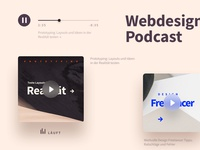 Podcast Landingpage Player Design
