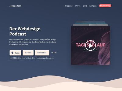 Podcast Landingpage Website Design - final webdesign itunes design ui website player responsive landingpage music layout stage podcast
