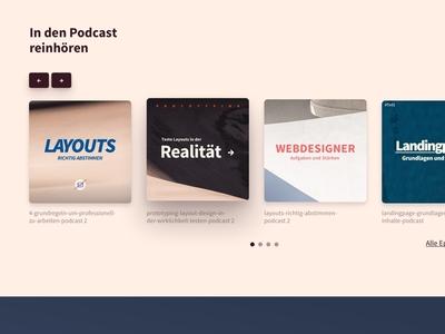 Podcast Episodes Slideshow Layout webdesign itunes design ui website player responsive landingpage music layout slider podcast