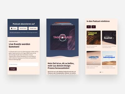 Podcast Landingpage Mobile Website Design webdesign player design ui website web design responsive landingpage music layout mobile podcast