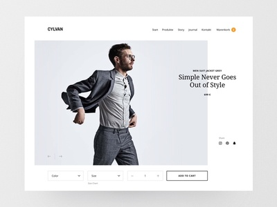Product e-commerce detail page webdesign fashion design ui website web design responsive sell online shop layout product ecommerce