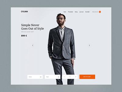 Fashion Label Online Shop Product Page webdesign landingpage design ui website web design responsive fashion online shop layout ecommerce product
