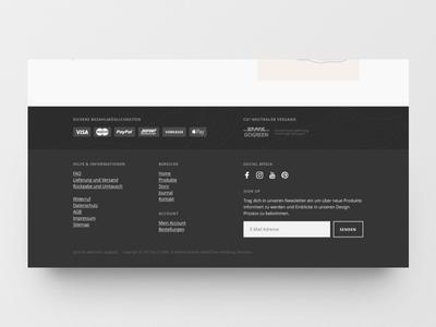 Online Shop Footer Design webdesign design ui website web design responsive fashion online shop layout ecommerce product footer