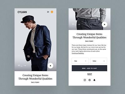Responsive Product Detail Page webdesign design ui website web design responsive fashion online shop layout ecommerce product landingpage