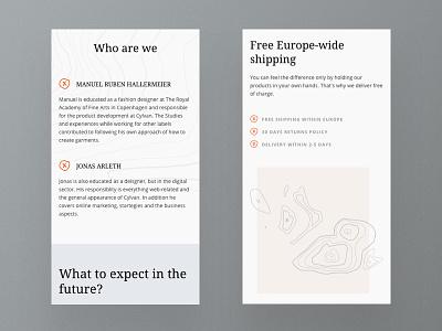 Online shop responsive mobile version webdesign design ui website web design responsive fashion online shop layout ecommerce product mobile