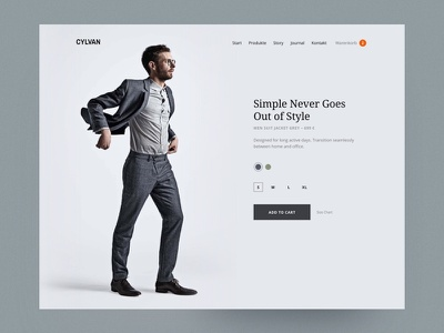Product Page webdesign design ui website web design responsive fashion online shop layout ecommerce product landingpage