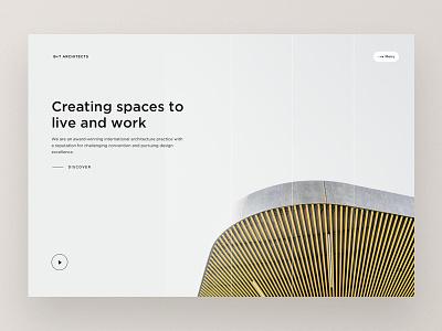 Architecture Company Website Homepage webdesign design ui website web design responsive building architects layout architecture firm landingpage