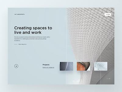 Architecture Studio Firm Homepage webdesign design ui website web design responsive building architects layout architecture firm landingpage