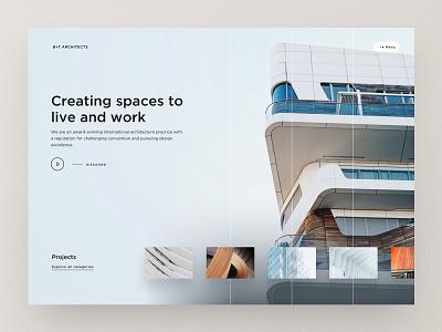 Architecture Website Homescreen webdesign design ui website web design responsive building architects layout architecture firm landingpage