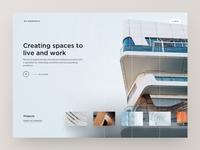 Architecture Website Homescreen