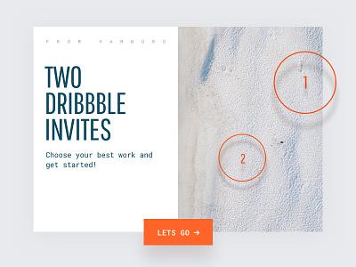 Dribbble Invite invite typography portfolio dribbble invite responsive clean drafted website ui design flat design webdesign