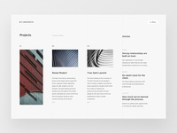 Architecture website project overview page