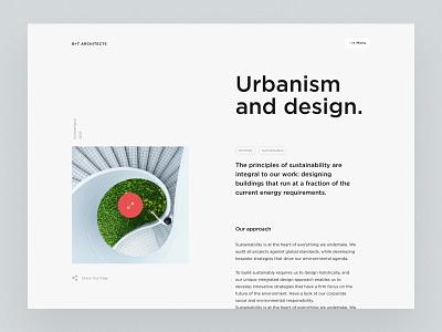 Architect website project detail page company design ui website web design responsive building architect layout architecture firm landingpage