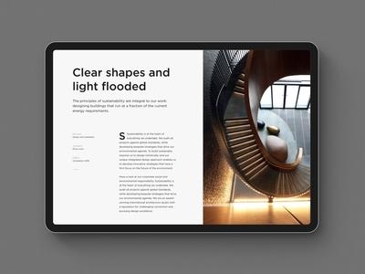 Architecture Website Tablet Version