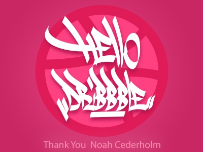 My first Dribbble shot! So Happy to be here! Thanks @NoahCede mexico tagging graffiti dribbble first