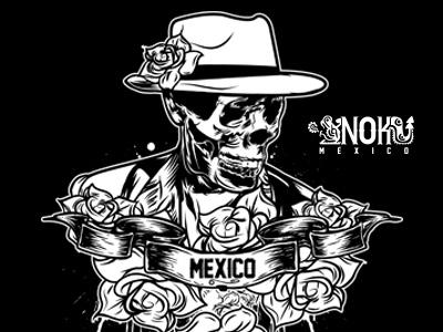 INK CATRIN // NOKMEXICO illustration intuospro wacom photoshop screenprinting tee custom tshirtdesign design tshirt skull