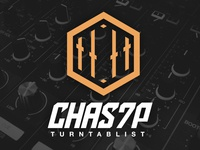 Chas7p Mexican Turntablist Logo Design