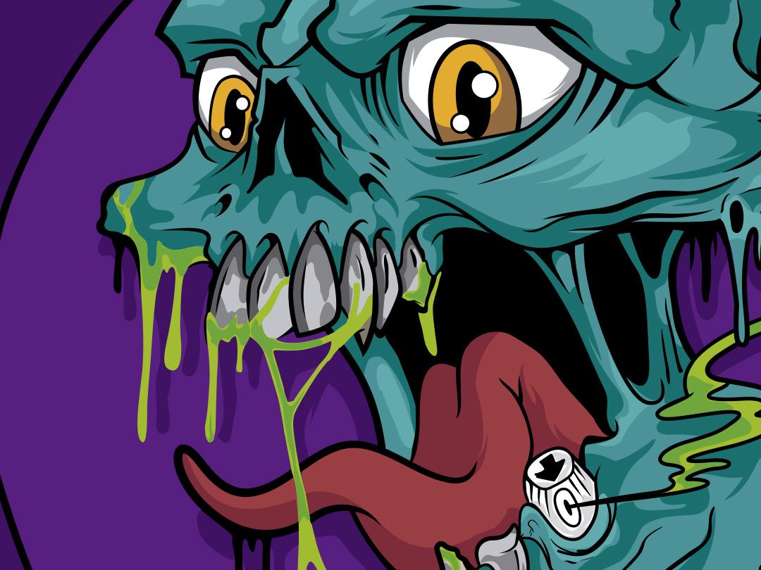 DrippingDrops Skull merch design tshirt design skull illustrator mexico logo vector illustration graffiti