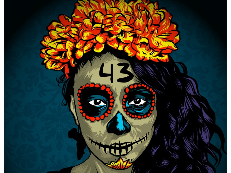 Catrina poster adobe draw ipad pro design vector illustrator mexico illustration