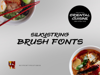 Silkystring Brush Fonts design graphic calligraphy typedesign branding creative fontspace fonts display casual brush lettering