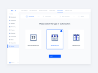 Type selection ux card illustration design interface gift business blue navigation icon ui