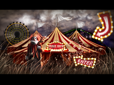 Who's THiS clown? digital painting adobe photoshop digital killer color concept illustration circus character