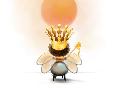 Little Queen digital illustration digital painting colorful concept createspace adobe indesign adobe photoshop watercolor graphic bee kids picture illustration story book childrens