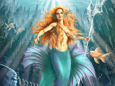 Guardians of Atlantis colorful digital illustration digital painting concept art character design childrens book book phtoshop illustration painting sea ocean art mermaid
