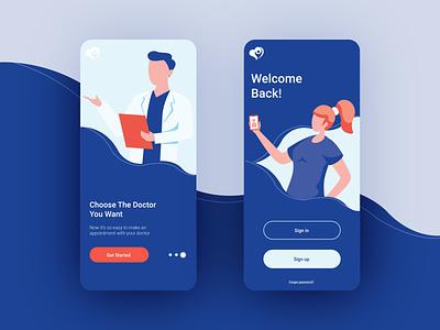 Mobile UI design telemedicine/hospital mobile design mobile app design mobile app hospital health uidesign ui ux ui design ui