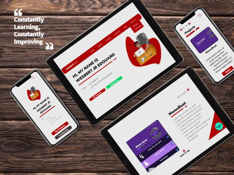 Portfolio Website Mock-Up web typography ux design