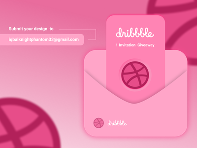 Invitation dribbble minimalist design invitation