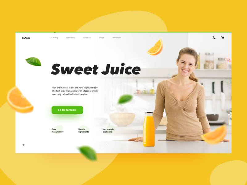 Sweet Juice homepage drink creativity web ui daily juice