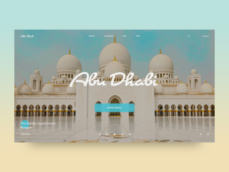 The City of Dreams landmarks clean minimal creativity homepage web ui daily city guide travel abu dhabi