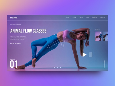 Fitness Course Inner Page workout goldengrid dailyui webdesign beauty health yoga sport fitness