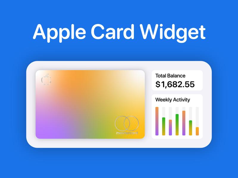 Apple Card Widget bank apple pay apple card widget iphone ios 14 ios14 apple illustration icon flat ux ui creative vector fake design design branding art