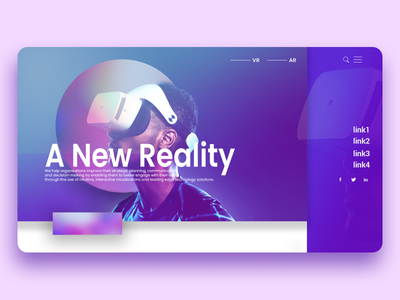 A New Reality Landing Page landing page desktop user interface ui user experience mockup design