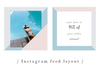 Instagram feed layout design