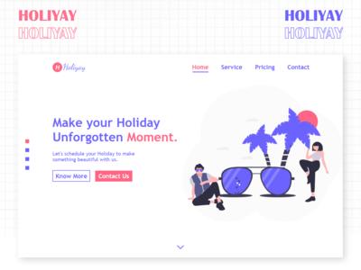Holiyay Landing Page