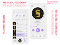 MI MUSIC REDESIGN   Neumorphism Concept