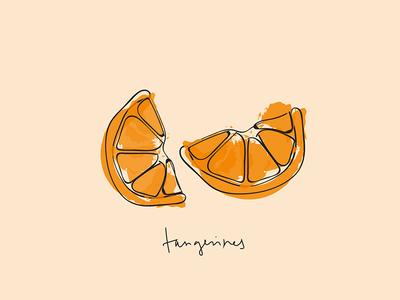Tangerines slice orange citrus tangerine tangerines