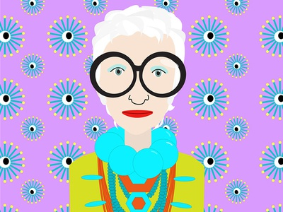 Iris Apfel glasses colorful eccentric costume jewelry iris apfel character