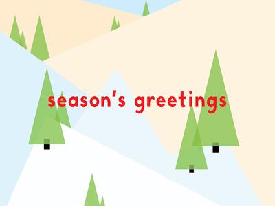 Season's Greetings holiday seasons greetings pine trees mountains