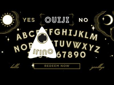 Ouija Board Still spirit board talking board clouds moon sun ouija